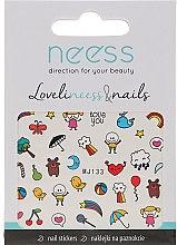 Парфюмерия и Козметика Декориращи лепенки за нокти, 3690, MJ133 - Neess