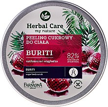 "Парфюми, Парфюмерия, козметика Захарен пилинг за тяло ""Buriti"" - Farmona Herbal Care Buriti"