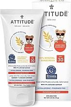 Парфюмерия и Козметика Слънцезащитен крем - Attitude Little Ones Sensitive Skin Sunscreen SPF 30