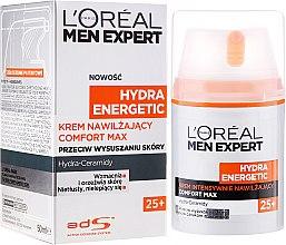 Парфюми, Парфюмерия, козметика Овлажняващ крем за лице - L'Oreal Paris Men Expert Hydra Energetic Comfort Max 25+