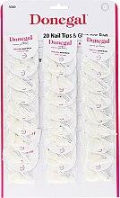 Парфюмерия и Козметика Изкуствени нокти с лепило - Donegal Nail Tips & Glue