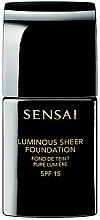 Парфюмерия и Козметика Kanebo Sensai Luminous Sheer Foundation - Фон дьо тен с озаряващ ефект