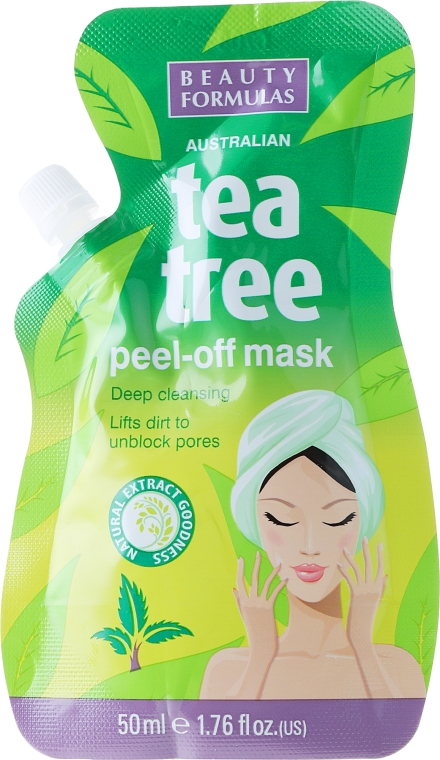 Маска за лице - Beauty Formulas Tea Tree Peel-Off Mask