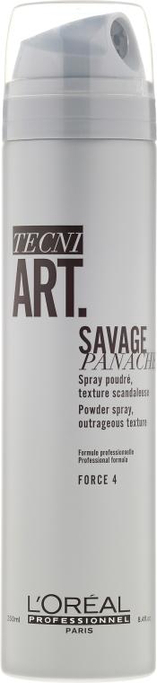Текстуриращ спрей пудра за супер обемна коса - L'Oreal Professionnel Tecni.art Savage Panache