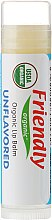 """Парфюмерия и Козметика Балсам за устни """"Без аромат"""" - Friendly Organic Lip Balm Unflavored"""