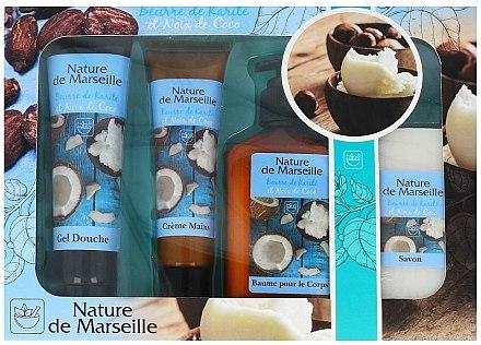 Комплект - Nature de Marseille Cocos (душ гел/100ml + крем за ръце/60ml + балсам за тяло/150ml + сапин/90g) — снимка N1