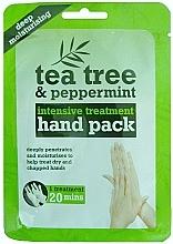 Парфюмерия и Козметика Ръкавици-маска за ръце - Xpel Marketing Ltd Tea Tree & Peppermint Deep Moisturising Hand Pack