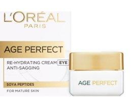 Парфюмерия и Козметика Хидратиращ крем за околоочна зона - L'Oreal Paris Age Perfect Re-Hydrating Eye Cream