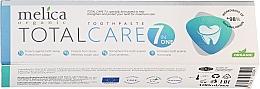 """Парфюмерия и Козметика Паста за зъби """"Комплексна грижа"""" - Melica Organic Toothpaste Total Care 7"""