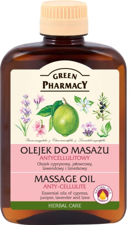 Масажно антицелулитно масло - Green Pharmacy