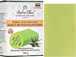 Парфюмерия и Козметика Сапун с екстракт от алое вера - Sabai Thai Herbal Aloe Vera Soap