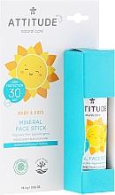 Парфюмерия и Козметика Слънцезащитен стик за лице - Attitude Mineral Face Stick SPF 30