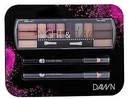 Парфюмерия и Козметика Комплект за очи - Cosmetic 2K Night & Day Dawn (сенки/8,16g + молив/2x0,6g)
