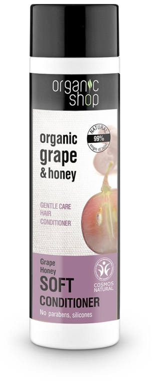 "Балсам за коса ""Нежна грижа с гроздов мед "" - Organic Shop Organic Grape and Honey Soft Conditioner"