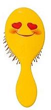Парфюмерия и Козметика Четка за коса 2003W, емотиконка-усмивка - IDC Design XL Detangle Brush