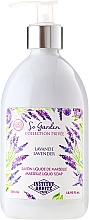 Парфюмерия и Козметика Течен сапун с кокосово и арганово масло, и аромат на лавандула - Institut Karite So Garden Collection Privee Lavender Marseille Liquid Soap