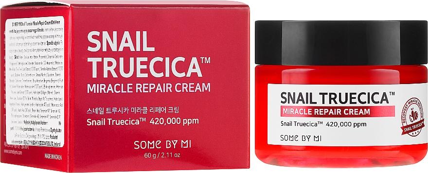Възстановяващ крем за лице със слуз от охлюв и церамиди - Some By Mi Snail Truecica Miracle Repair Cream