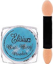 Парфюмерия и Козметика Пудра за нокти - Elisium Blue Bling Powder