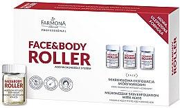 Парфюми, Парфюмерия, козметика Активен антистареещ концентрат с киселини за лице - Farmona Face&Body Roller