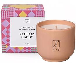"""Парфюмерия и Козметика Соева свещ """"Захарен памук"""" - Mys Cotton Candy Candle"""