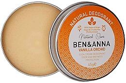 Парфюмерия и Козметика Натурален кремообразен дезодорант - Ben & Anna Vanilla Orchid Soda Cream Deodorant