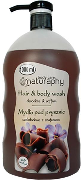 Шампоан за коса и душ гел 2в1 с екстракт от шоколад и шафран - Bluxcosmetics Naturaphy Hair & Body Wash