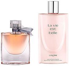 Парфюми, Парфюмерия, козметика Lancome La Vie Est Belle - Комплект (парф. вода/50ml + лосион за тяло/200ml)