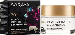 Парфюмерия и Козметика Възстановяващ крем за лице - Soraya Black Orchid & Diamonds 70+ Regenerating Cream