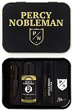 Парфюмерия и Козметика Комплект - Percy Nobleman (comb/1pcs + b/oil/10ml + wax/5ml + ass)