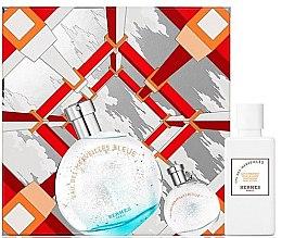Парфюми, Парфюмерия, козметика Hermes Eau des Merveilles Bleue - Комплект (edt/50ml + b/lot/40ml + edt/7.5ml)
