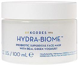 Парфюмерия и Козметика Маска за лице с гръцки йогурт - Korres Greek Yoghurt Hydra-Biome Probiotic Superdose Face Mask