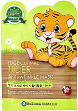 """Парфюмерия и Козметика Памучна маска против бръчки за лице """"Тигър"""" - Belleza Castillo Edge Cutimal Tiger Anti-Wrinkle Mask"""
