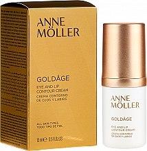 Парфюмерия и Козметика Крем за околоочен контур и устни - Anne Moller Goldage Eye and Lip Contour Cream
