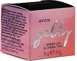 Парфюмерия и Козметика Тинт-желе за устни и скули - Avon Jelly Sheer Lip & Cheek Tint