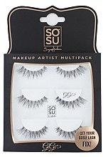 "Парфюмерия и Козметика Комплект изкуствени мигли ""Gigi"" - Sosu by SJ Makeup Artist Multipack Eyelashes"