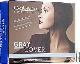Парфюмерия и Козметика Ампули за по-добро боядисване на сива коса - Salerm Cubre Canas