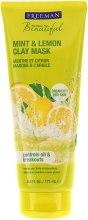 """Парфюмерия и Козметика Глинена маска за лице """"Мента и лимон"""" - Freeman Feeling Beautiful Clay Mask Mint & Lemon"""