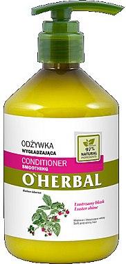 Изглаждащ балсам за коса с екстракт от малина - O'Herbal — снимка N1