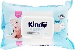 Парфюмерия и Козметика Детски мокри кърпи - Cleanic Kindii Skin Balance