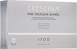 Парфюмерия и Козметика Комплексна терапия против косопад за жени 1700 - Crescina Hair Follicular IslandRe-Growth+Anti-Hair Loss HFI 1700 Woman