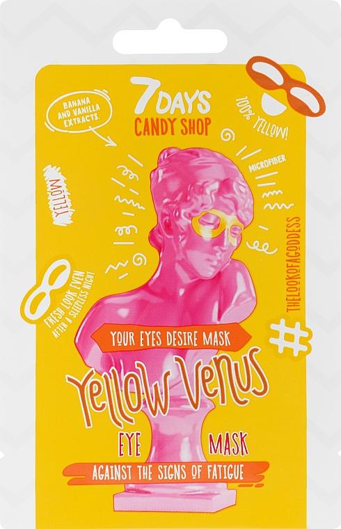 Околоочна маска с екстракт от банан - 7 Days Candy Shop Yellow Venus — снимка N1