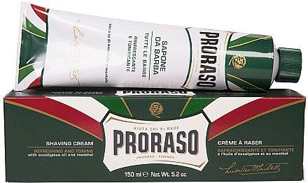 Крем за бръснене с ментол и евкалипт - Proraso Green Shaving Cream — снимка N2
