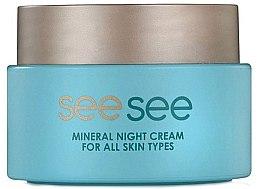 Парфюмерия и Козметика Нощен крем за лице с минерали от Мъртво море - See See Mineral Night Cream