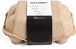 Парфюмерия и Козметика Комплект бомбички за вана - IDC Institute Pure Energy Bath Bombs Lavender & Passion Fruit & Lotus (6x70g)