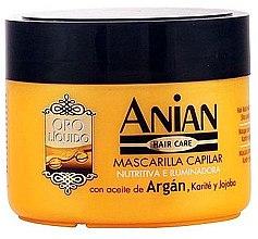 Парфюмерия и Козметика Арганова маска за коса - Anian Liquid Gold Hair Argan Mask
