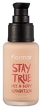 Парфюми, Парфюмерия, козметика Фон дьо тен - Flormar Stay True Face & Body Foundation