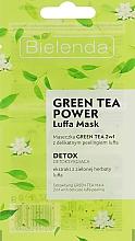Парфюмерия и Козметика Детоксикираща пилинг маска 2в1 за лице със зелен чай - Bielenda Green Tea Power Luffa Mask 2in1