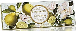 Парфюмерия и Козметика Комплект натурални сапуни с аромат на бергамот и гардения - Saponificio Artigianale Fiorentino Bergamot & Gardenia (3 x 100g)