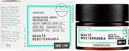 Парфюмерия и Козметика Супер хидратиращ крем за лице с конопено масло - Beaute Mediterranea Hemp Line Cream Super Green Moisturizer