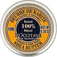 Парфюмерия и Козметика Масло за тяло (мини) - L'occitane Organic Pure Shea Butter